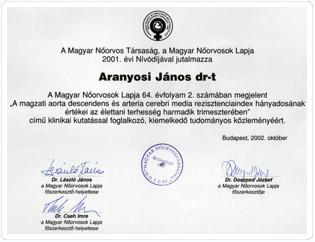 Dr. Aranyosi János Nőorvos Nívódíj.jpg