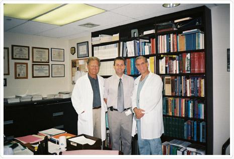 Dr. Aranyosi János Kerényi és Berkowitz professzorokkal