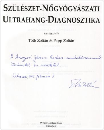 Tóth Zoltán professzor dedikálása