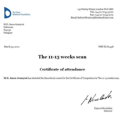 Dr- Aranyosi - ultrahang vizsgálat Debrecen